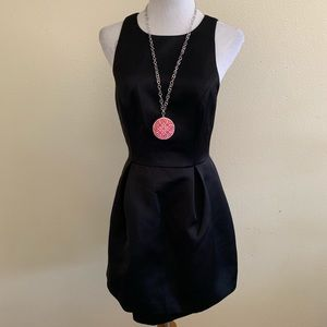 Nasty Gal Keepsake Plum Black Dress Skater